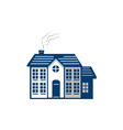 American Traditional House Isolated Retro vector image vector image