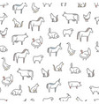 animals farm seamless pattern background vector image vector image