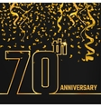Anniversary Outline gold A vector image vector image