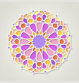 arabic colorful pattern vector image vector image