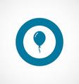 balloon bold blue border circle icon