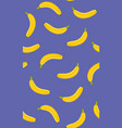 banana seamless pattern on a purple background vector image vector image
