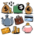 banking icons set 2 vector image