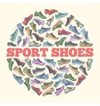 big flat collection set of sneakers vector image vector image