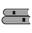 book college icon simple black style vector image