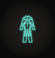 bright cybersuit icon in glowing neon style vector image vector image