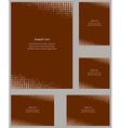 Brown page corner design template set vector image vector image