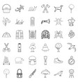 camping icons set outline style vector image vector image