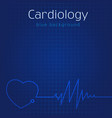 cardiology blue background vector image