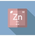 Chemical element Zinc Flat vector image vector image