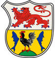 coat of arms of much in north rhine-westphalia vector image vector image