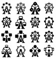 collection park ferris wheel icons vector image vector image