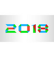 colorful new year 2018 background vector image vector image