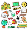 Comic Style Badges Patches Stickers School vector image vector image