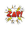 comics balloon zap text cartoon speech bubble vector image vector image