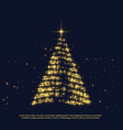 creative christmas glitter tree design with shiny vector image vector image