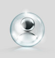 crystal glass ball with blank chrome avatar in it vector image vector image
