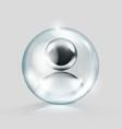 crystal glass ball with blank chrome avatar vector image