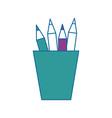 cup with pencils icon vector image vector image