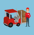 delivery service worker character vector image