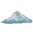 drawing cloud climate weather cold vector image vector image