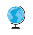 earth globe on stand vector image vector image