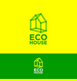 ecohouse logo construction logo real estate emblem vector image vector image