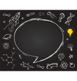 education science doodles on chalkboard vector image vector image
