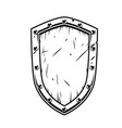 fantasy warrior shield vector image