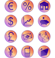 financial icons round vector image vector image