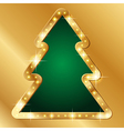 Flash banner christmas tree vector image vector image