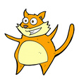 funny comic cartoon cat vector image vector image