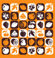 hand dran icons set - fruits vector image vector image