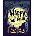 Happy Halloween with symbols vector image