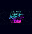 happy new year 2020 message on star background vector image