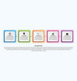 infographic template for business presentations or vector image