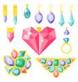 jewelry items gold elegance gemstones vector image vector image