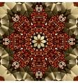 Kaleidoscope design Mandala lotus flower symbol vector image