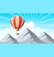 landscape mountain air ballon vector image vector image