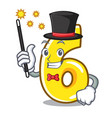 magician number six isolated on the mascot vector image vector image