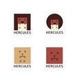 minimalistic hercules head logotype vector image