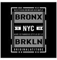 new york city typography for t shirt vector image vector image
