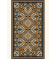 Oriental design in frame for carpet vector image