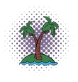 Palm tree comics icon vector image vector image