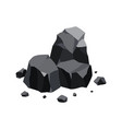 pile coal fossil stone black mineral vector image vector image