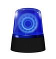 police alarm lights blue lamp vector image
