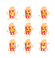 popcorn- set of mascot vector image vector image