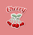 Retro cherry vector image