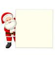 santa holding white paper vector image vector image