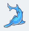 Saw fish sea life vector image